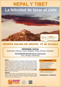 Nepal y Tíbet con Ext. Butan 27 octubre-09 nov.