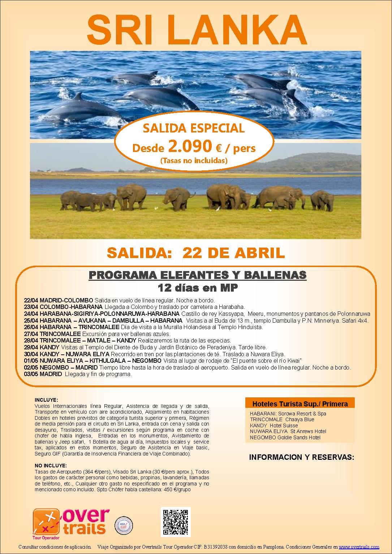 SRI LANKA Salida Grupal 22 de abril 2015