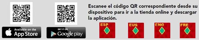 QR+Texto Descarga App Pamplona + Logos
